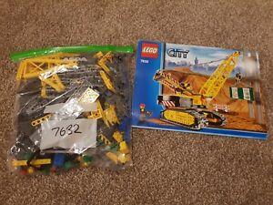 Grue sur chenilles Lego City 7632 - Ouvrier en construction urbaine