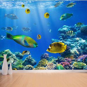 Image Is Loading Underwater Tropical Fish Wallpaper Mural Design Wm071