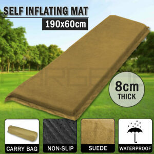 Self-Inflating-Mattress-Sleeping-Suede-Mat-Air-Bed-Camping-Camp-Hiking-Joinable