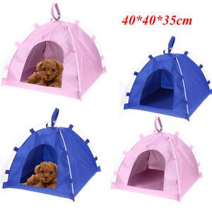 Wasserfest Oxford Tragbar Hund Katze Welpe Haus Bett Hundehütte Zelt Faltbar Mat