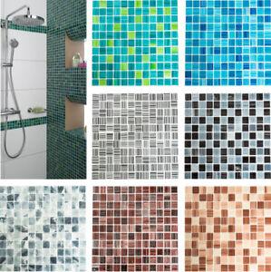 Das Bild Wird Geladen Glasmosaik Gestreift Gruen Tuerkis Blau Weiss Schwarz  Grau
