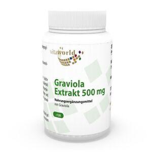 Vita-World-Graviola-Extrakt-10-1-10000mg-Tagesdosis-120-VKaps-Graviolakapseln