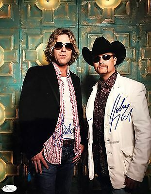 Signed 11x14 Photo Jsa Q62842 Practical John Rich Big Kenny big & Rich