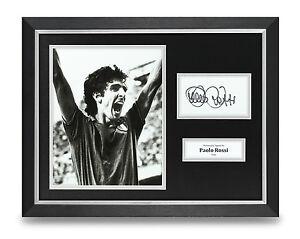 Paolo-Rossi-Signed-Photo-Framed-16x12-Italy-Autograph-Memorabilia-Display-COA