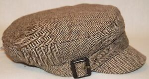 The Hat Depot Womens Washed Cotton Herringbone Cadet Military Cap 1797