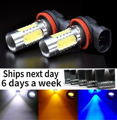 2x Plasma LED Fog or Driving Light Replacement Bulbs in Blue Red White Amber