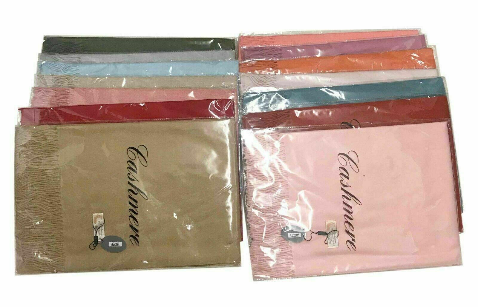 Pashmina Scarf Cashmere Plain Wrap Shawl Stole Scarf Many Colours Available
