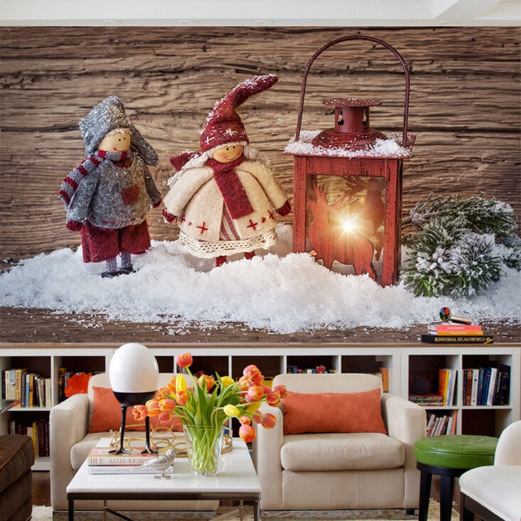 3D Christmas Two dolls 33 WallPaper Murals Wall Print Decal AJ WALLPAPER