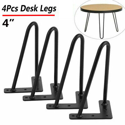 Guide 4x Premium Hairpin Table Legs AND Protector Feet Worth £8! FREE Screws