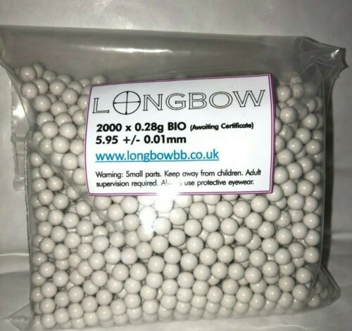 Longbow Biodegradable BBs Airsoft Ammo High Quality Polished 0.25-0.45g Bio BB/'s