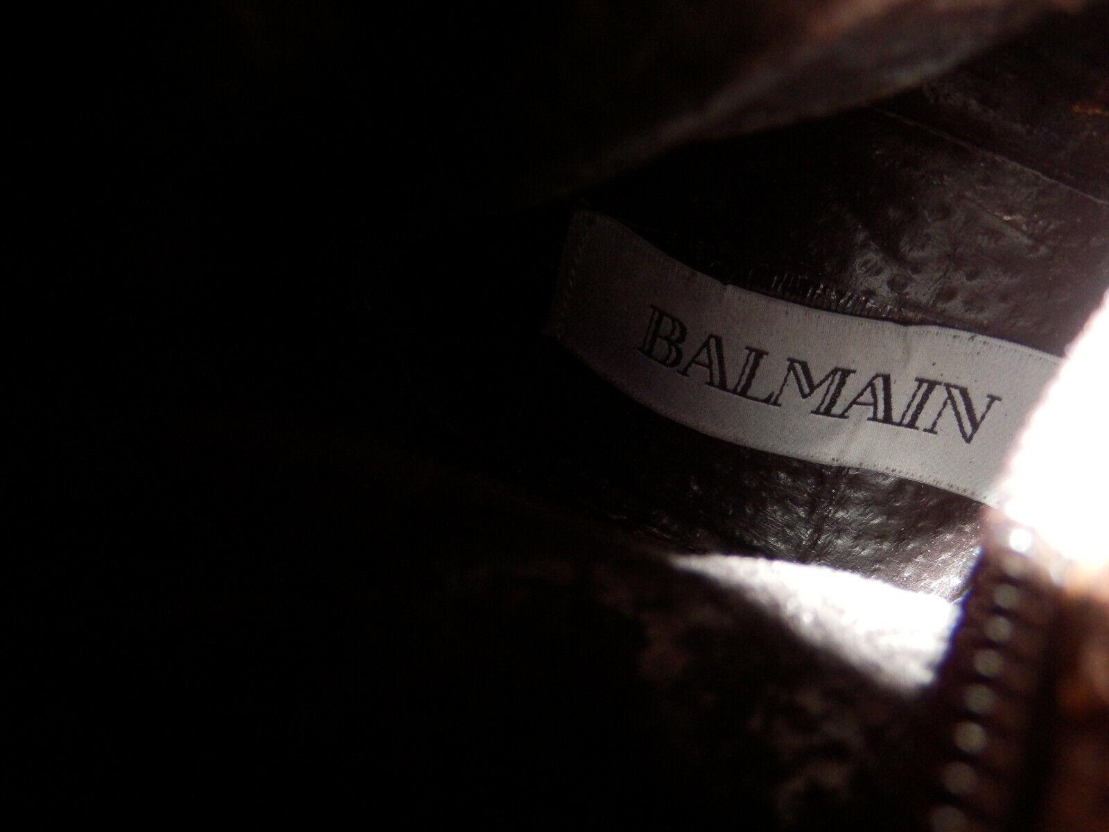 BALMAIN - BOTTES - CUIR CUIR CUIR  - POINTURE 37 - brown - AUTHENTIQUE 048a1b