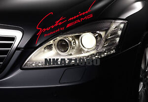 Sports mind AMG Mercedes Benz Vinyl Decal Racing hood sticker emblem logo RED