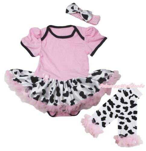 Western Rose Body Cowgirl lait vache bovins laitiers robe de bébé Jambière NB-18M