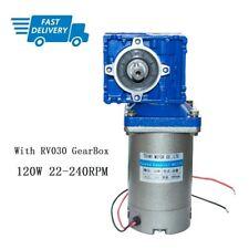 120 Watt 122490v Dc Worm Gear Motor With Nmrv030 Gearbox Speed Reducer