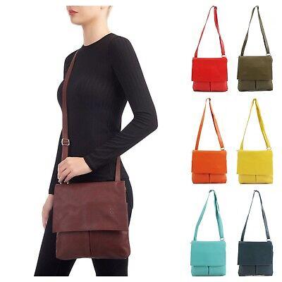 Ladies Italian VERA PELLE Genuine Soft Leather Small Cross Body Girls Bag Gift