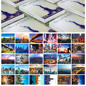 LOTS-30PCS-New-York-City-Postcards-NY-Buildings-Statue-of-Liberty-Night-Views