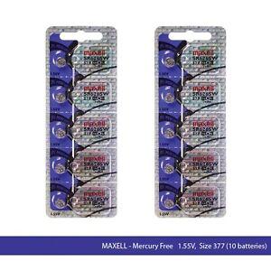 Maxell-377-SR626SW-Silver-Oxide-Watch-Batteries-10-Pcs