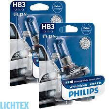 HB3 PHILIPS WhiteVision Intensiver Xenon-Effekt Scheinwerfer Lampe DUO-Pack-Box