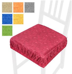CUSCINO-coprisedia-tinta-unita-SFODERABILI-cucina-vesti-sedie-cotone-casa-sedie