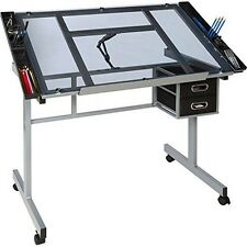 OneSpace 50-CS01 Craft Station- Silver with Blue Glass NEW