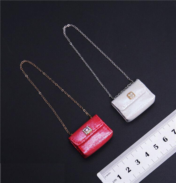 1 6th DIY Scale Weiß Bag DIY 6th Fashion Damens Body Handbag For 12