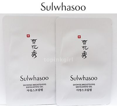 10pcs x Sulwhasoo Snowise Brightening Exfoliating Gel Upgrade Ex White Ginseng