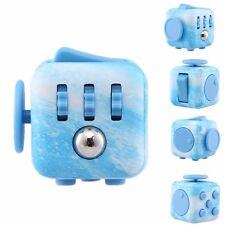 Prime Good ocean Blue Fidget Cube  Stress Relief Focus Desk Toy Gift Adults Kids