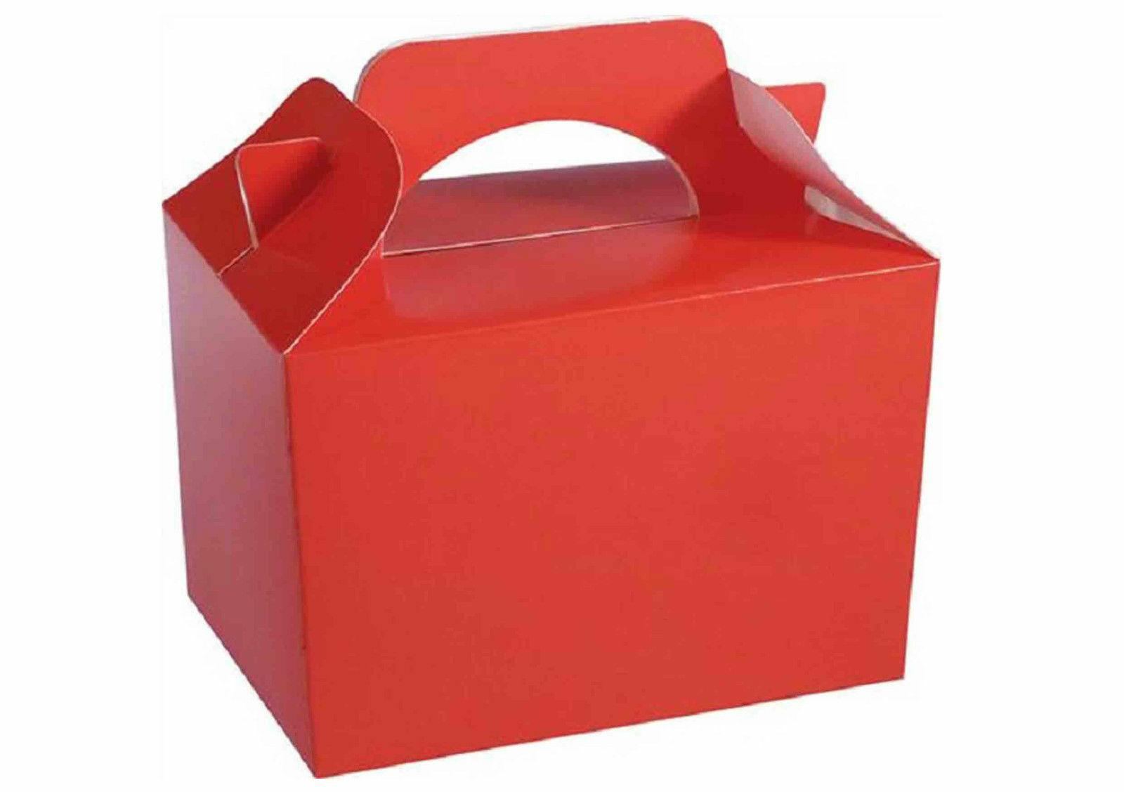 Partito Rosso Scatole Per Bambini Kids Kids Kids Cibo Loot Pranzo Scatola Regalo di Compleanno Sacchetti 828726