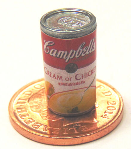 1:12 scale empty box of Campbell/'s chicken soup dolls house kitchen