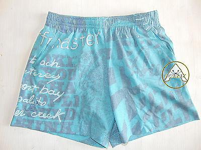 Vintage 80 90 Australian Boxer L 52 Shorts Costume Beach Pantaloncini Verde Nos