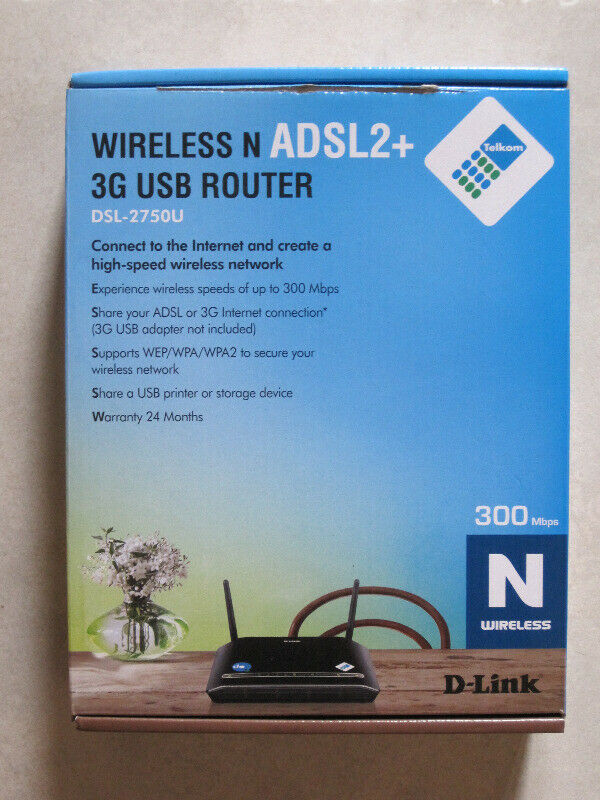 D-Link N300 Wireless ADSL2+ 3G USB Router