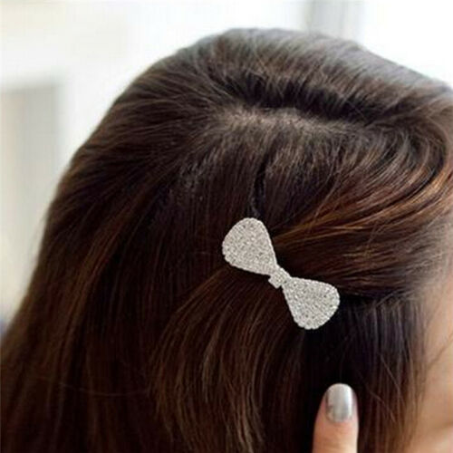 Mädchen Frauen Kristall Haarspange Haarspangen Bowknot Haarschmuck Mode
