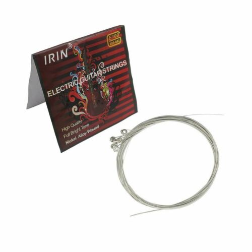 IRIN E100 Musik Geraet Stahlsaiten fuer E-Gitarre 0,009-0,042 Zoll U4D2 OE