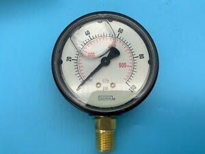 Details about  /Noshok 25-900-100 PSI//KPA Pressure Gauge 1//4 NPT Bottom
