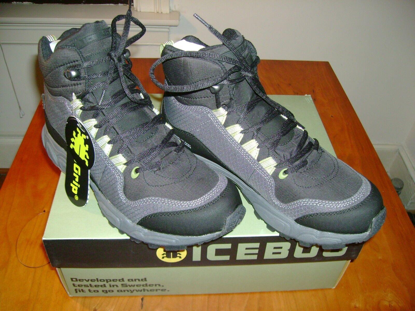 Icebug Stord BUGrip Hiking Boots, Men's 7.5, New