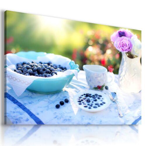 BLUEBERRIES GARDEN FRUITS VEGETABLES KITCHEN Canvas Wall Art  F88 MATAGA .