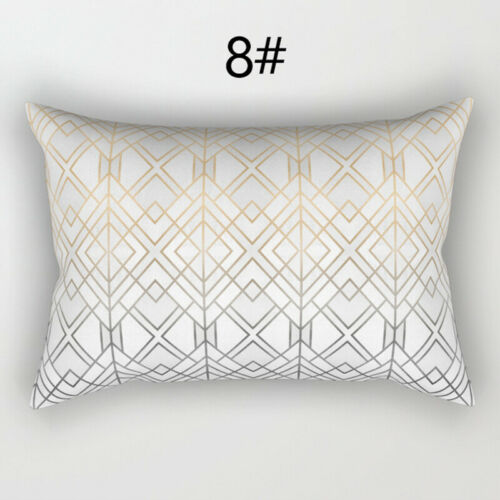 Rectangle Geometric Marble Texture Pillow Cases Waist Cushion Cover Home Decor