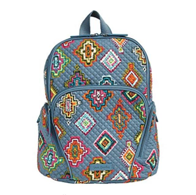 Vera Bradley Hadley Backpack Painted Medallions Small Book Bag for ... 378e2475e6418