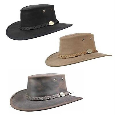 Barmah Foldaway Bronco Hat Black Cowboy Western Australian Bush Cap