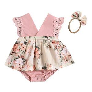 Newborn Baby Kids Girls Romper Bodysuit Summer Jumpsuit Playsuit Clothes Outfits