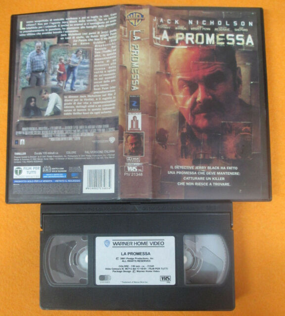 VHS film LA PROMESSA 2002 Jack Nicholson Aaron Eckhart Mirren WARNER(F191)no dvd