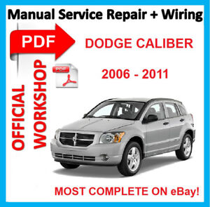 official workshop manual service repair for dodge caliber 2006 rh ebay com 2007 Dodge Caliber Shop Manual Dodge Caliber 2007 Manual Book