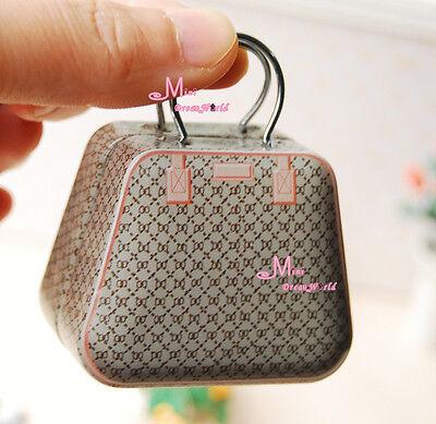 1/6 Barbie Blythe Dollhouse Miniature TOY GUCCI Metal Trunk box