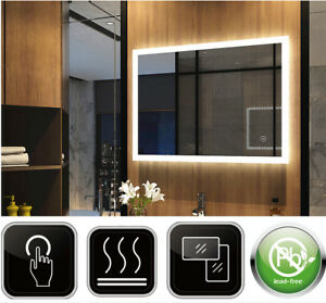 Badspiegel Mit Led Touch Badezimmerspiegel Beleuchtung Spiegel