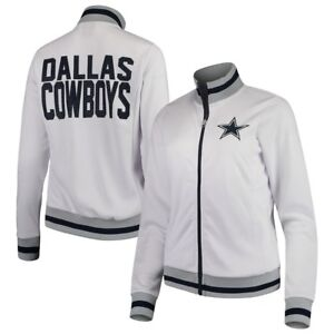 caa4136c Details about Dallas Cowboys Women's Field Goal Full-Zip Track Jacket –  White