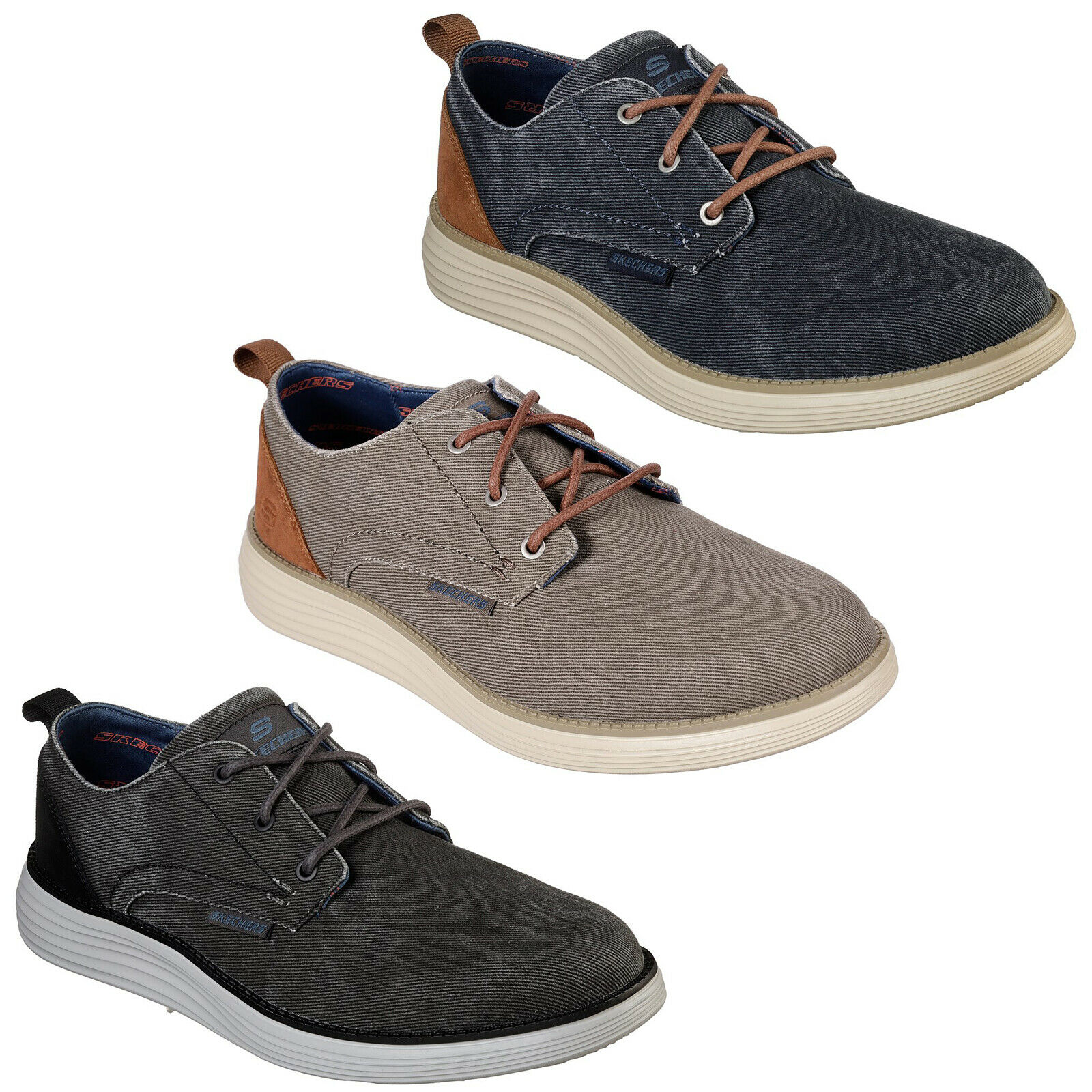 Skechers Arcade Chat Memory Mens Canvas