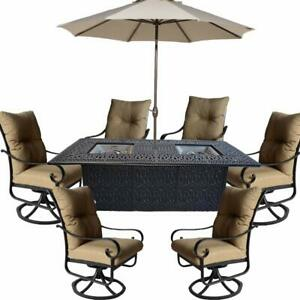 Propane-fire-pit-dining-table-set-9-piece-outoor-cast-aluminum-patio-furniture