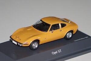 Opel GT orange Modellauto 1:43 Schuco
