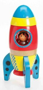 Premium-Wooden-Toy-Rocket-with-Astronaut-Age-3