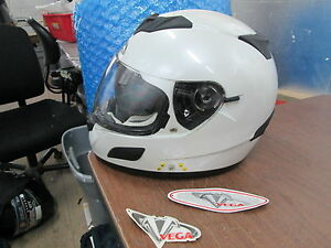 Vega-V-Tune-Vtune-Bluetooth-Full-Face-Sun-Shield-White-Motorcycle-Helmet